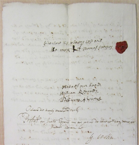 Photo: Illustrative image for the 'Will of Thomas Jeepes 1706' page