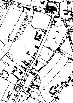 Photo:1836 map. Note all the barns behind Barnards and Town Green Farm.