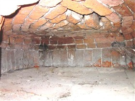Photo:Inside the well preserved bread oven.