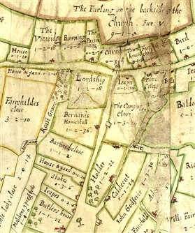 Photo:The Chicheley map showing Barnards.