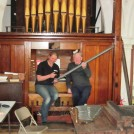 Photo:David and Susie with an organ pipe