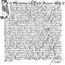 Will of Elizabeth Farchild 1615