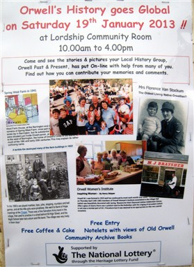 Photo:This advert was placed on the village Noticeboards, and , when laminated, at many points in the village streets