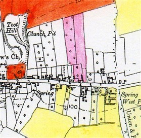 Photo:Lilac Farm (shaded  pink) in 1910