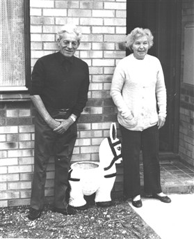 Photo:Maurice and Betty Pearce, first residents of Lordship Close