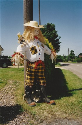 Photo:The winning scarecrow, made by Anna Squires and family