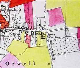 Photo:Spring West Farm (shaded yellow) 1941