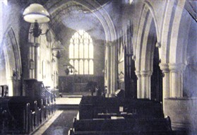 Photo:The old organ in 1920, to the right of the Chancel steps