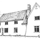 Page link: Pen and Ink drawings of Historic Orwell buildings for sale