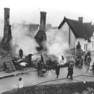 Photo:The fire at the Town House in the High Street, 1936