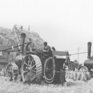 Photo:Threshing, Pumfrey engine, at Thriplow, early 1950s