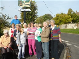 Photo:Orwell members with the WI baton in October 2014,