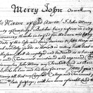 Page link: Will of John Merry, butcher 1738.
