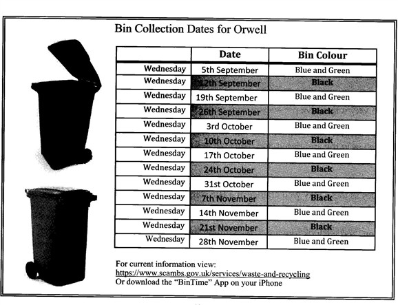 Photo: Illustrative image for the 'BIN COLLECTION DATES' page