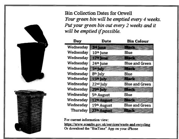 Photo: Illustrative image for the 'BIN COLLECTION DATES 2020' page