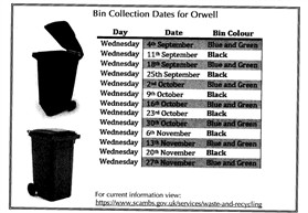 Photo: Illustrative image for the 'BIN COLLECTION DATES 2019' page