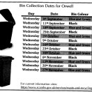 BIN COLLECTION DATES 2019