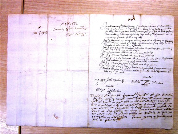 Photo: Illustrative image for the 'Will of Nicholas Barton, Tailor, 1662' page