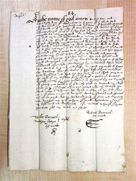 Photo: Illustrative image for the 'Will of Robert Barnard 1615' page